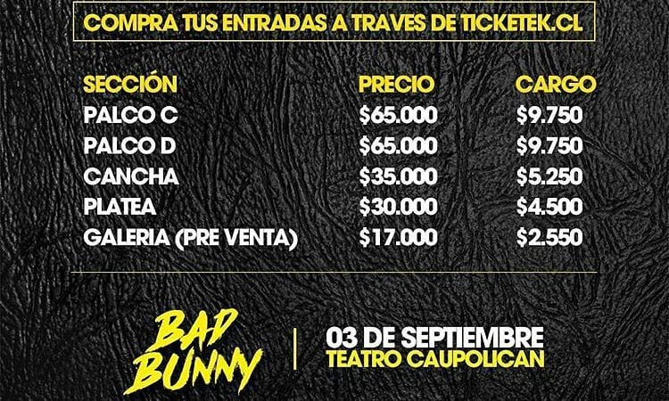 Bad Bunny: @Regrann from @mkpro.ch –  Puedes revisar los valores para @…